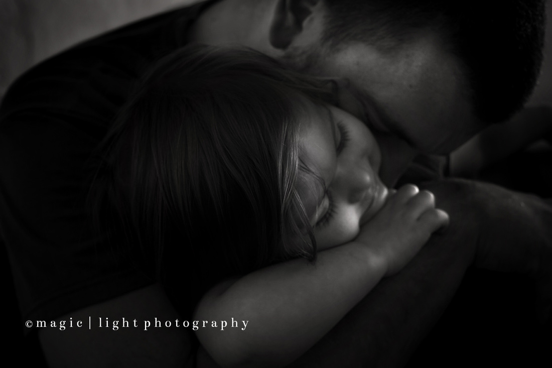 Sweet Daddy daughter picture using Black and White Actions for Photoshop and Elements by Magic and Light Collection