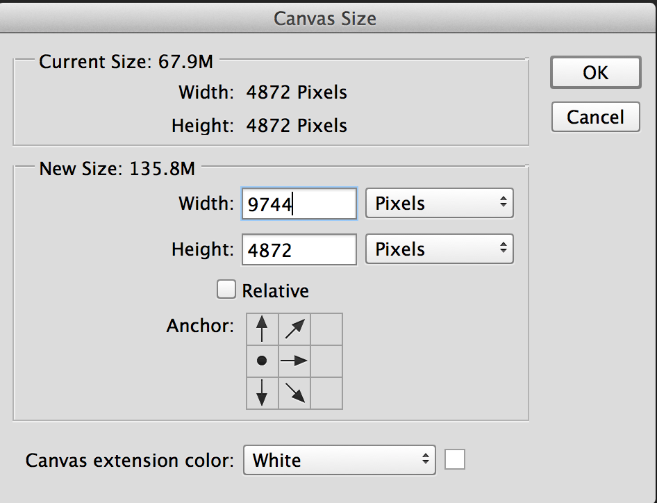 how to extend canvas in adobe photoshop