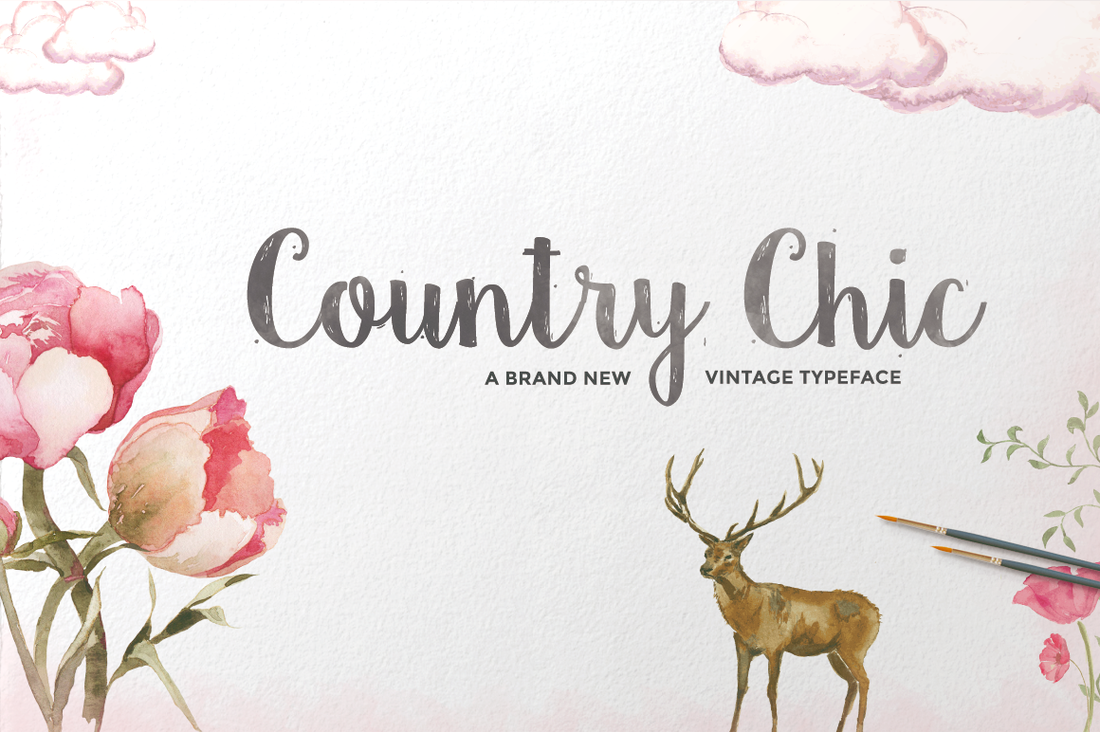 Country Chic font from Creative Market