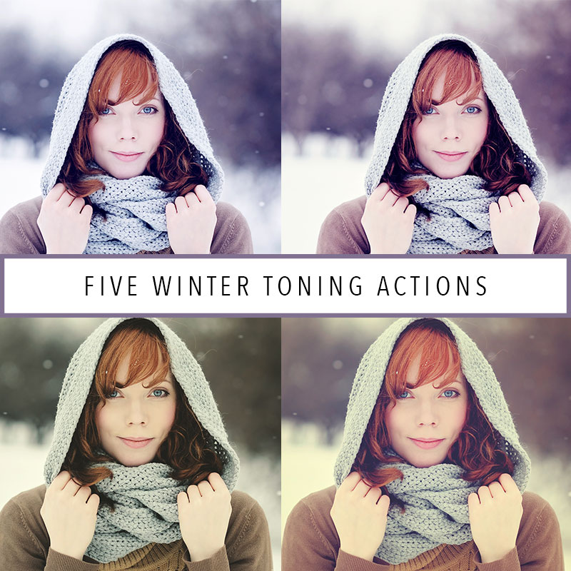 Five Winter Toning Actions For Photoshop and Elements