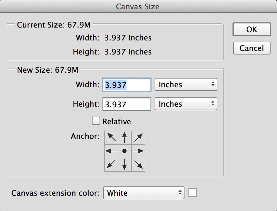 How to view your image in pixels instead of inches