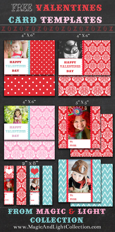 Free Printable Valentine Photo Card Templates